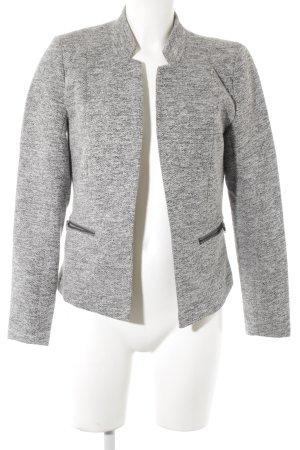 Only Korte blazer zwart-grijs gestippeld casual uitstraling