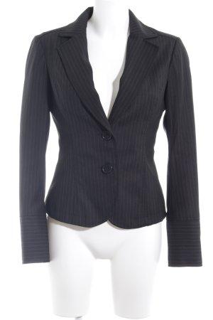 Only Kurz-Blazer schwarz-grau Nadelstreifen Business-Look