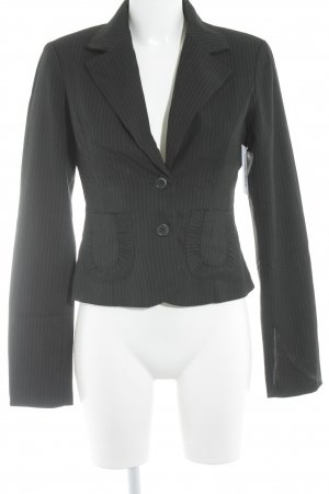 Only Short Blazer black-green striped pattern business style