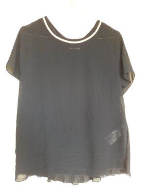 Only kurzärmelige Bluse mit Sweeatkragen und Plissee hinten Gr. 38