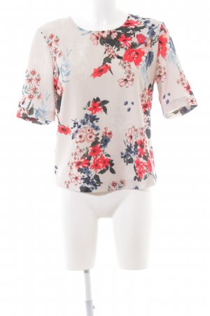 Only Kurzarm-Bluse Blumenmuster Casual-Look