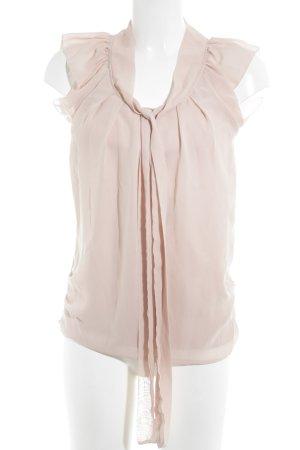 Only Kurzarm-Bluse rosé Romantik-Look