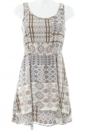 Only Kurzarmkleid grafisches Muster Boho-Look