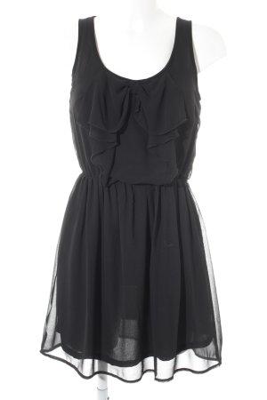 Only Kurzarmkleid schwarz schlichter Stil