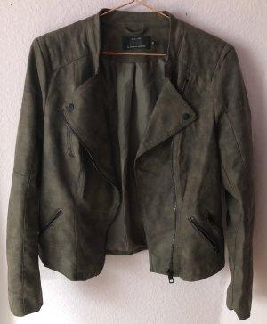 Only kurze Jacke in Leder-Optik