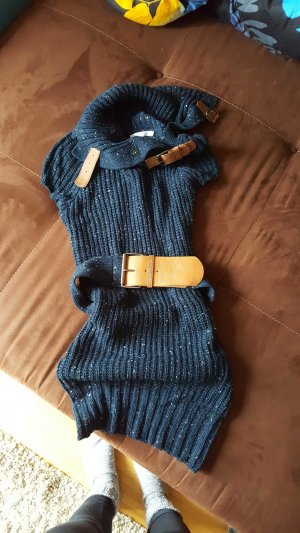ONLY kurzes Wollkleid blau