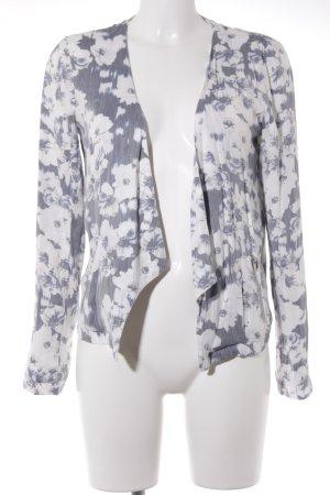 Only Kort jack wit-grijs bloemenprint elegant