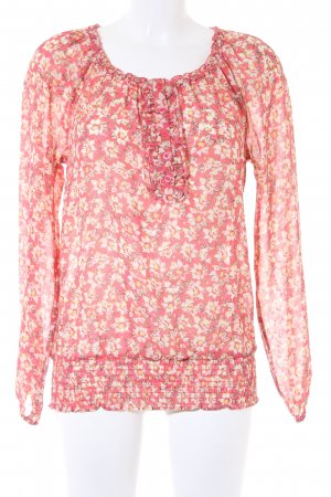 Only Langarm-Bluse Blumenmuster Casual-Look