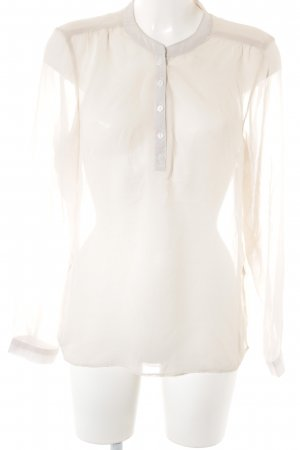 Only Langarm-Bluse creme Business-Look