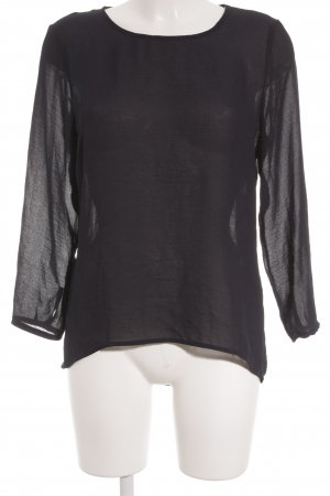 Only Langarm-Bluse dunkelblau Casual-Look