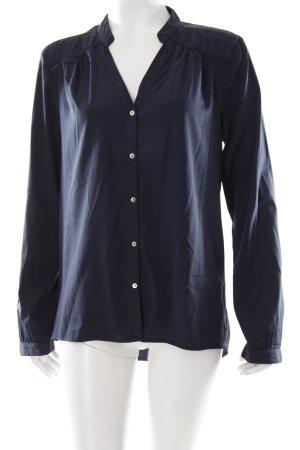 Only Langarm-Bluse dunkelblau Marine-Look