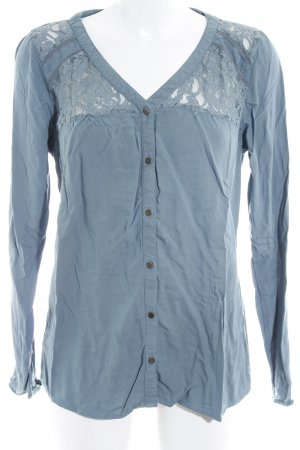 Only Langarm-Bluse graublau Casual-Look