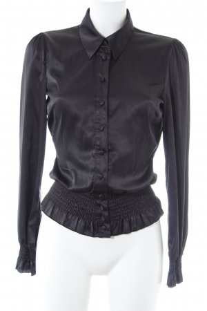 Only Langarm-Bluse schwarz Casual-Look