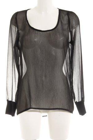 Only Langarm-Bluse schwarz minimalistischer Stil