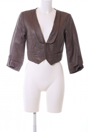 Only Leather Blazer brown casual look
