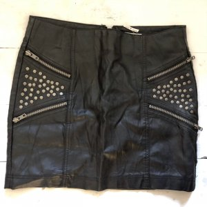 Only Leather Skirt bronze-colored-black