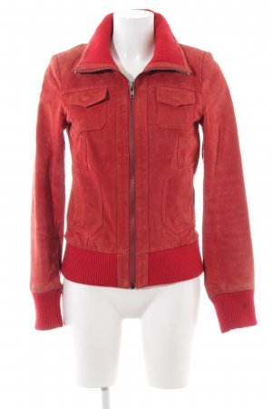Only Lederjacke rot Casual-Look