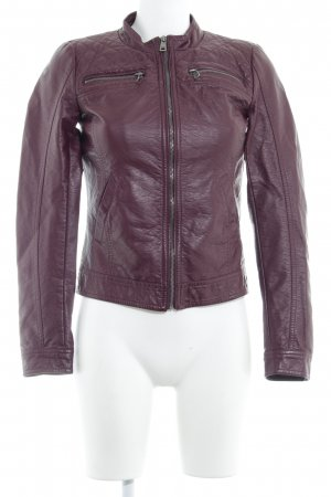 Only Leren jack bordeaux Biker-look