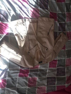 100 Veste en cuir or rose