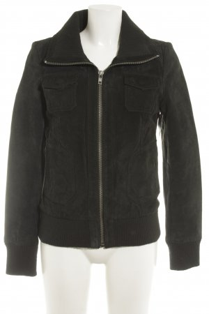 Only Lederjacke schwarz Casual-Look