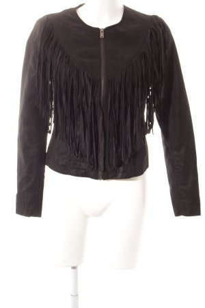 Only Lederjacke schwarz Country-Look