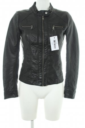 Only Giacca in pelle nero stile rockabilly