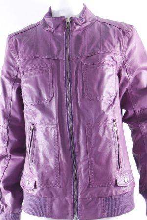 Only Lederjacke violett