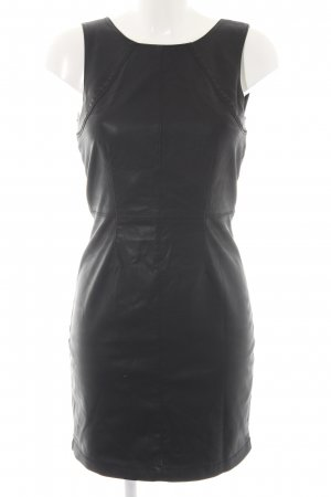 Only Leren jurk zwart Biker-look