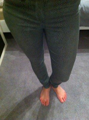 Only-Legging grau Schlangenprint Gr. XS (W25)