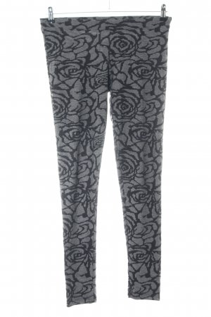 Only Leggings hellgrau-schwarz Allover-Druck Casual-Look