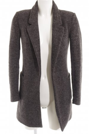 Only Long-Blazer dunkelgrau-hellgrau meliert Casual-Look