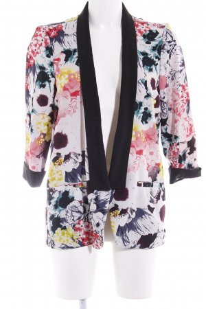 Only Long-Blazer florales Muster Casual-Look