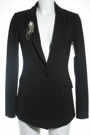 Only Long-Blazer schwarz klassischer Stil