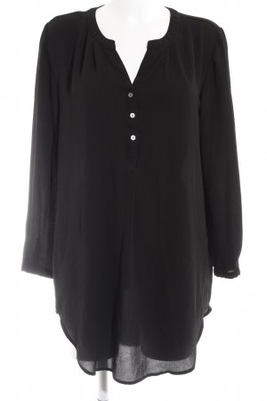 Only Long-Bluse schwarz Business-Look