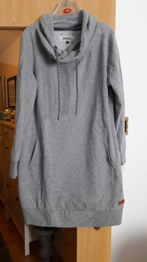 Only Long Sweater silver-colored cotton