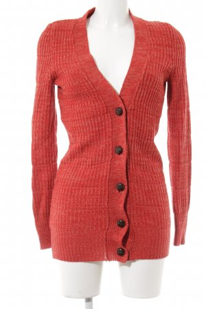 Only Long Knitted Vest red-bright red flecked casual look