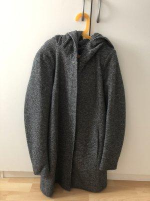 Only Abrigo con capucha gris oscuro