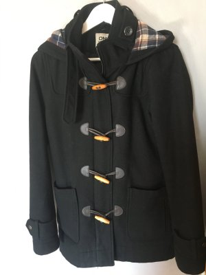 Only Abrigo con capucha negro