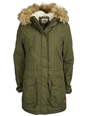 Only Mantel Parka 36 Parker Khaki Teddy Fell 36 neu blogger