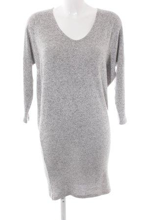 Only Midi-jurk lichtgrijs-donkergrijs gestippeld casual uitstraling