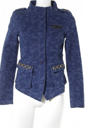 Only Militair jack donkerblauw-blauw camouflageprint militaire uitstraling