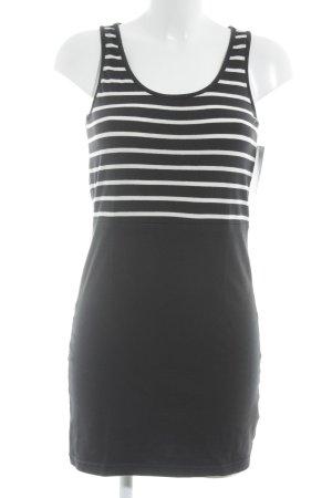 Only Minikleid dunkelblau-weiß Streifenmuster sportlicher Stil