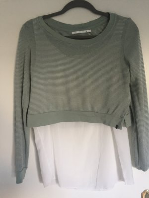 Only Knitted Jumper white-sage green
