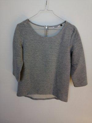 Only Camisa acanalada color plata-gris claro