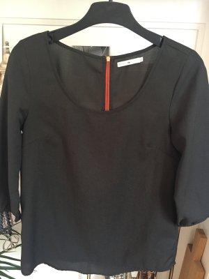Only Oberteil, shirt, khaki, Reissverschluss hinten, Gr. S, Hingucker!