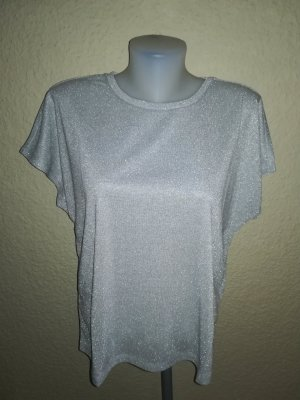 Only Onlsilvery Disco S/s Top T-Shirt Donna (Silver) Gr.M
