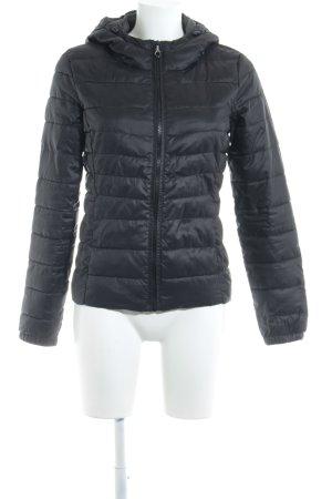Only Veste d'extérieur noir motif de courtepointe style décontracté
