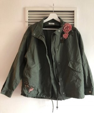 Only Oversized Jacket khaki-green grey