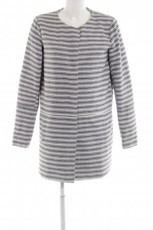 Only Oversized Coat blue-white striped pattern casual look
