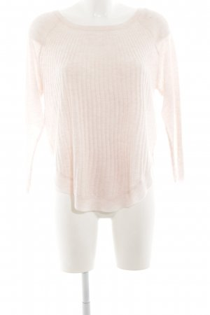 Only Oversized Sweater pink cable stitch simple style